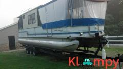 1995 TRKM Very Rare Pontoon Many Updates Houseboat Sleeps 5-6