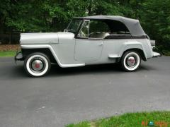 1949 Willys Jeepster Chrome Gray Convertible