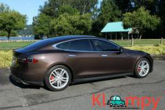 2013 Tesla Model S P85 - Brown over Tan