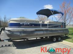 2013 SUNTRACKER PARTY 150HP 4 STROKE BARGE 24 DLX TRITOON MERCURY