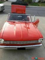1963 Chevrolet Nova Convertible Red RWD Automatic 383 stroker