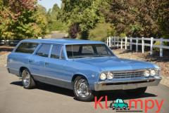 1967 Chevrolet Chevelle Malibu Wagon Nantucket Blue V8 Automatic