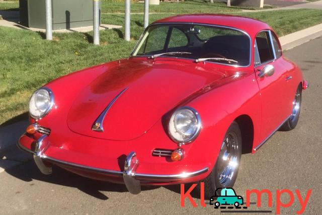 1963 Porsche 356B Coupe Ruby Red - 1/15
