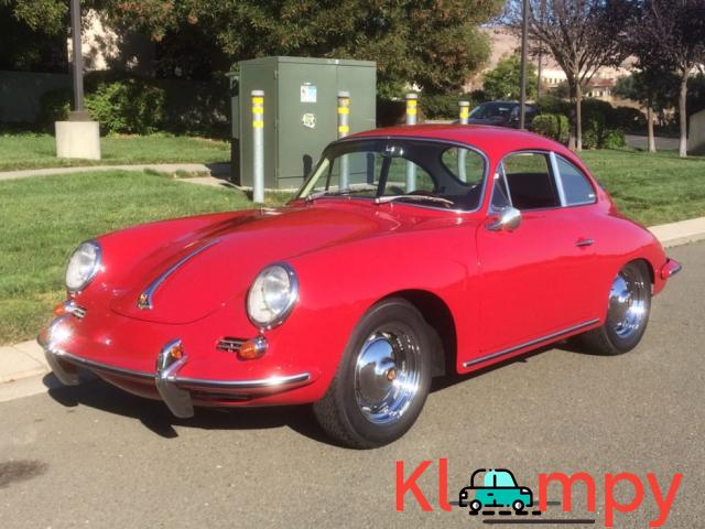 1963 Porsche 356B Coupe Ruby Red - 2/15