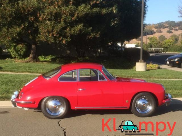 1963 Porsche 356B Coupe Ruby Red - 4/15