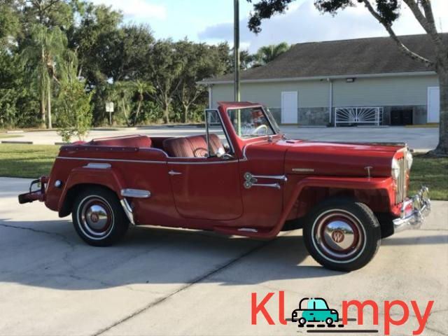 1949 Willys-Overland Jeepster Tunisian Red - 3/12