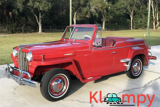 1949 Willys-Overland Jeepster Tunisian Red - 8/12