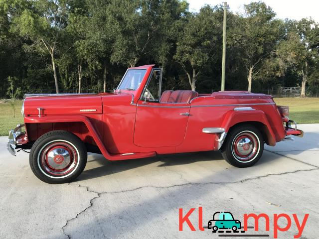 1949 Willys-Overland Jeepster Tunisian Red - 9/12