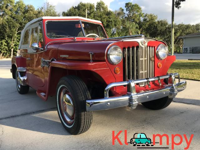 1949 Willys-Overland Jeepster Tunisian Red - 10/12