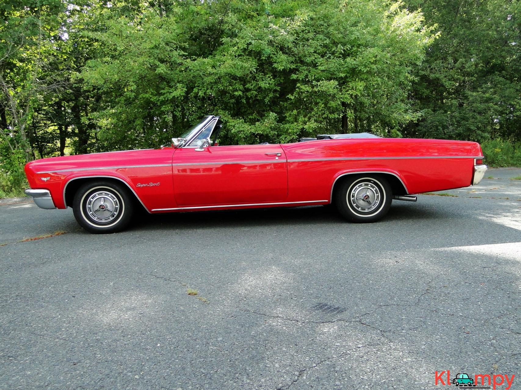 1966 Chevrolet Impala SS Convertible Regal Red V8 - 4/23