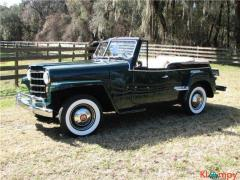 1950 Willys Jeepster Chrome  F-134
