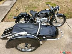 1960 BMW R50 with Steib Sidecar Black